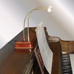 Spinet piano lamp
