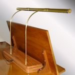brass organ lamp