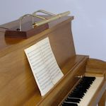Upright piano lamp