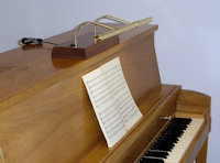 Upright piano lamps | Ektralamp